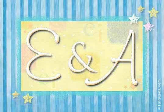Tarjeta de iniciales E - A