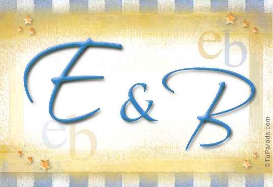 Tarjeta de iniciales E - B