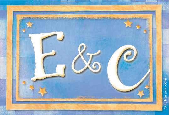 Tarjeta de iniciales E - C