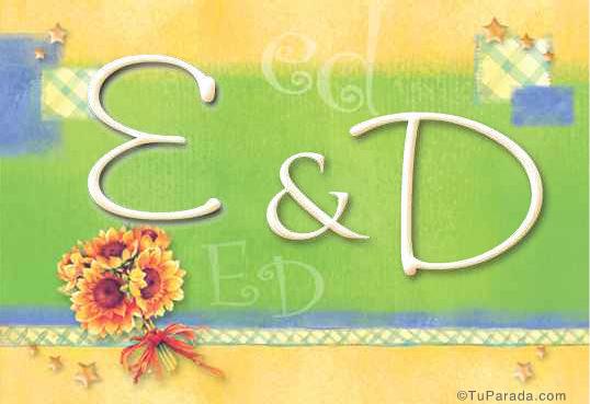 Tarjeta de iniciales E - D