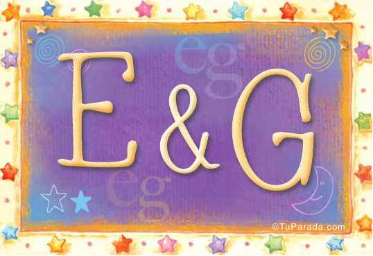 Tarjeta de iniciales E - G