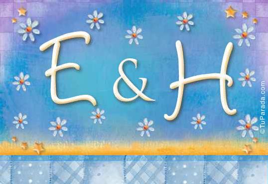 Tarjeta de iniciales E - H