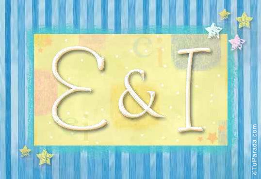 Tarjeta de iniciales E - I