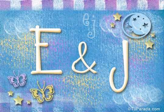 Tarjeta de iniciales E - J