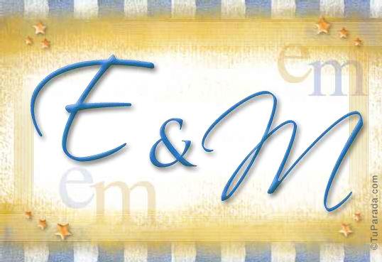Tarjeta de iniciales E - M
