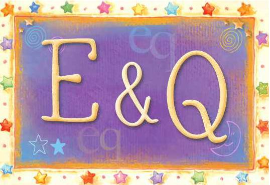 Tarjeta de iniciales E - Q