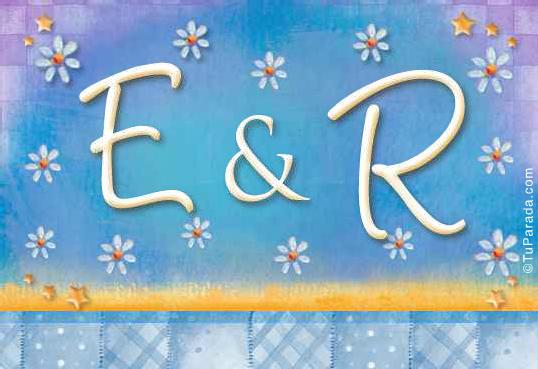 Tarjeta de iniciales E - R