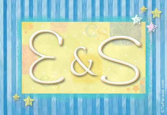 Tarjeta de iniciales E - S