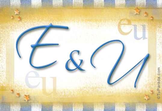 Tarjeta de iniciales E - U