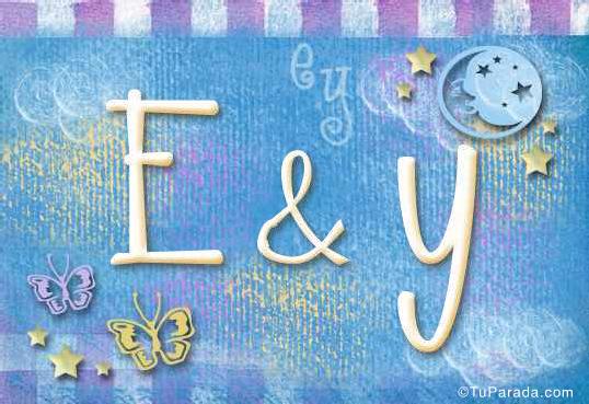 Tarjeta de iniciales E - Y