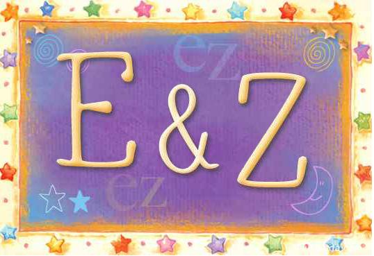 Tarjeta de iniciales E - Z