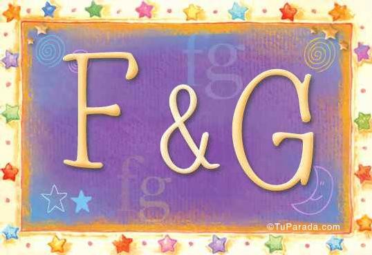 Tarjeta de iniciales F - G