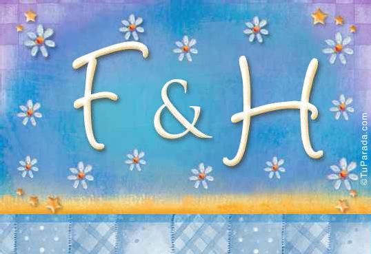 Tarjeta - Tarjeta de iniciales F - H