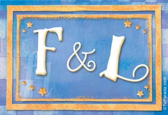 Tarjeta - Tarjeta de iniciales F - L