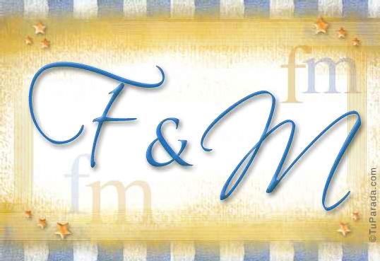 Tarjeta de iniciales F - M