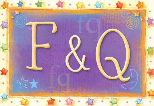 Tarjeta de iniciales F - Q