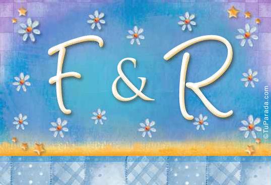 Tarjeta de iniciales F - R