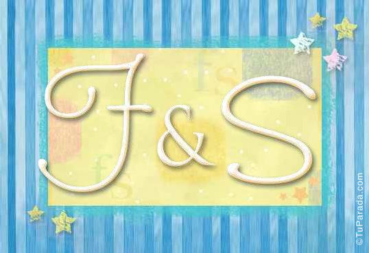 Tarjeta de iniciales F - S