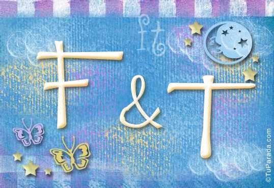 Tarjeta de iniciales F - T