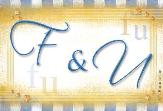 Tarjeta de iniciales F - U