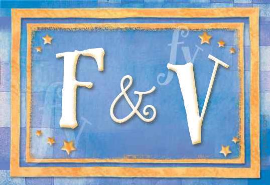 Tarjeta de iniciales F - V
