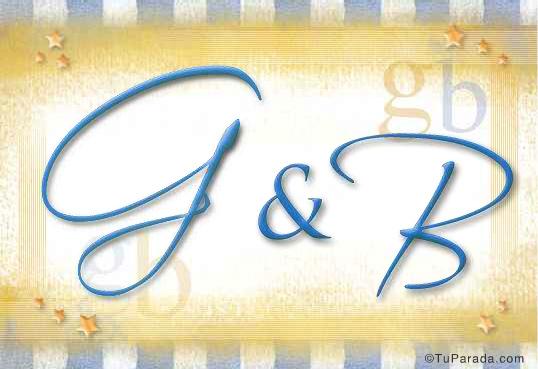 Tarjeta - Tarjeta de iniciales G - B