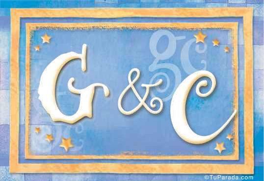 Tarjeta de iniciales G - C