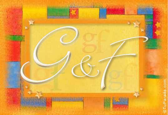 Tarjeta de iniciales G - F