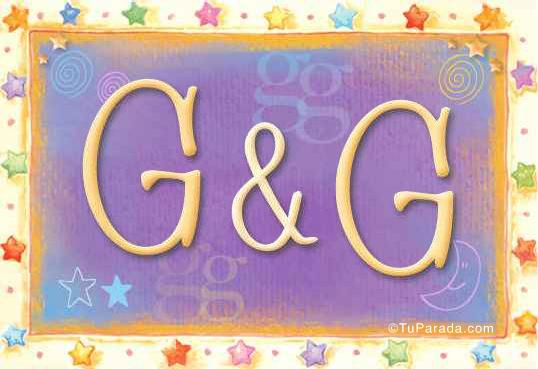 Tarjeta de iniciales G - G