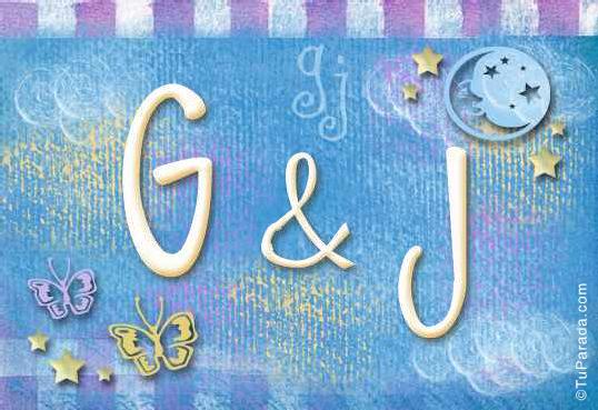 Tarjeta de iniciales G - J
