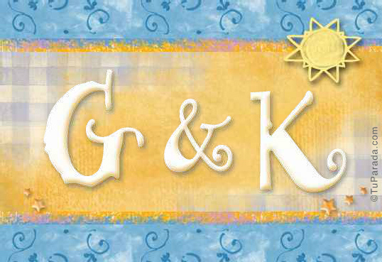 Tarjeta de iniciales G - K