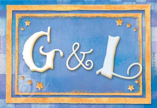 Tarjeta de iniciales G - L
