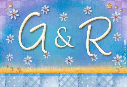 Tarjeta de iniciales G - R