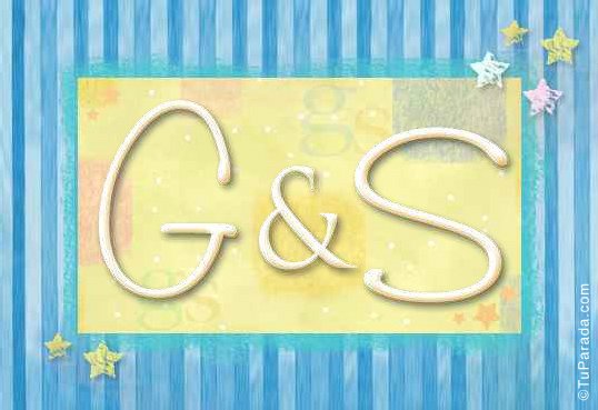 Tarjeta de iniciales G - S