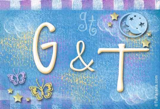 Tarjeta de iniciales G - T