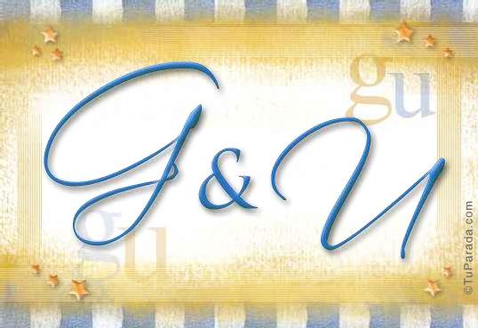 Tarjeta de iniciales G - U