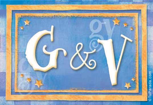 Tarjeta de iniciales G - V