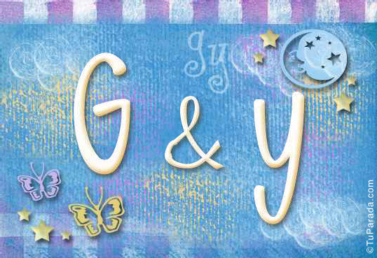 Tarjeta de iniciales G - Y