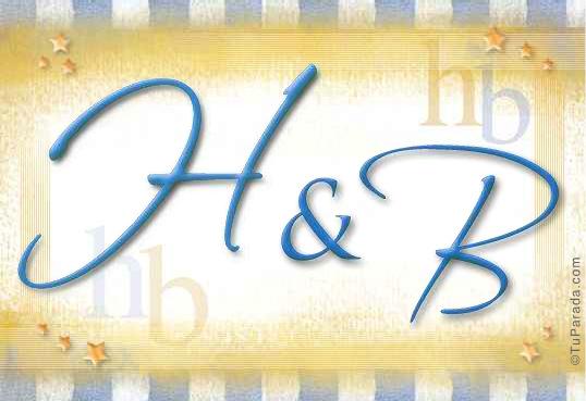 Tarjeta de iniciales H - B