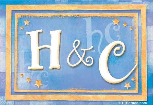 Tarjeta de iniciales H - C