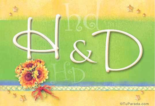 Tarjeta de iniciales H - D