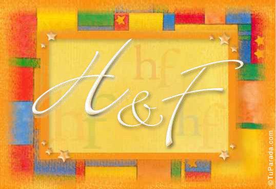 Tarjeta de iniciales H - F