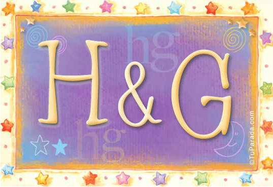 Tarjeta de iniciales H - G
