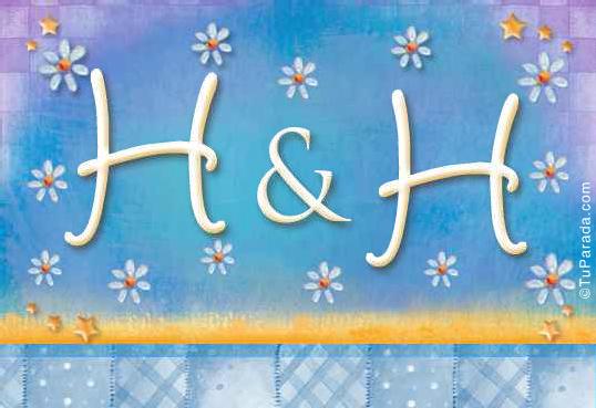 Tarjeta de iniciales H - H