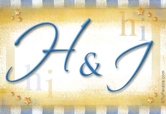 Tarjeta de iniciales H - I