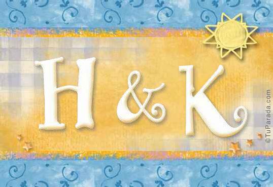 Tarjeta de iniciales H - K