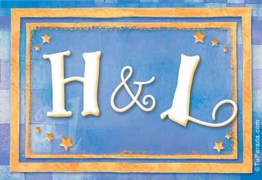 Tarjeta de iniciales H - L