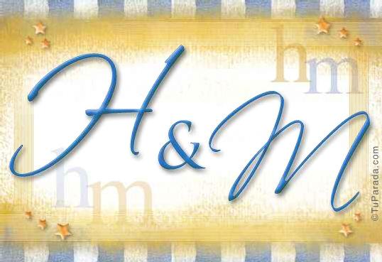 Tarjeta de iniciales H - M