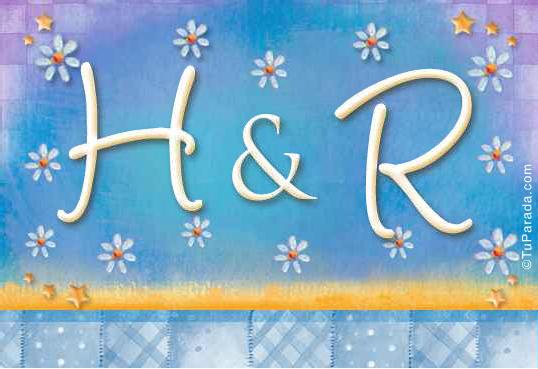 Tarjeta de iniciales H - R