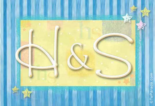 Tarjeta de iniciales H - S